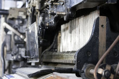 Linotype à fonte Photo libre de droits