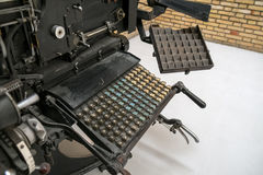 Linotypemaskin Royaltyfri Foto