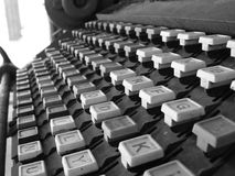 Linotypetastatur lizenzfreie stockbilder