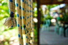 Linowa dekoracja w ogródzie zdjęcia royalty free