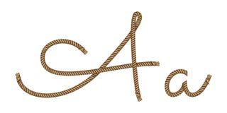 Linowa ręka rysujący list A ilustracja wektor