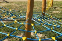 Linowa wspinaczkowa rama w formie pajęczyn Fotografia Royalty Free