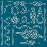 Linowe kępek granicy Cienieją Kreskowego ikona set wektor Zdjęcia Royalty Free