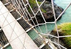Linowy most Zdjęcie Royalty Free