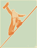 linowy piechur Royalty Ilustracja