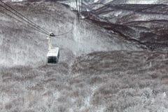 Linowy sposób przy górą Hakkoda, Aomori prefektura, Japonia Obraz Royalty Free