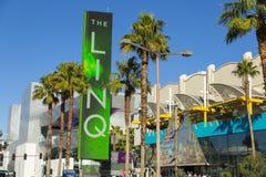 Linq签到拉斯维加斯, 2014年1月04日的NV 免版税库存照片