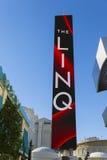 Linq走廊签到拉斯维加斯, 2014年1月04日的NV 免版税库存照片