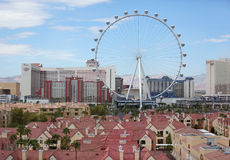Linq High Roller Ferris wheel in Las Vegas royalty free stock images