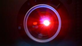 Lins för filmprojektor lager videofilmer
