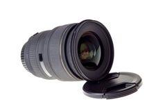 Linse der modernen Digitalkamera, Ansicht der vorderen Linse Stockbild