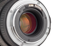 Linse der modernen Digitalkamera, hintere Ansicht der Linse Stockbild