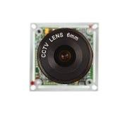 Linse für Sicherheitsvideokameras Stockfoto