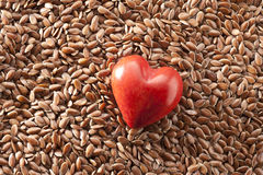 Linseed Flax Seed Heart Food Royalty Free Stock Photos