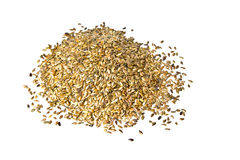 Linseed or Flex Seeds on white background. Heap of linseed or  flex seeds Royalty Free Stock Image
