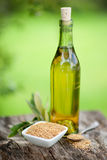 Linseed oil Royalty Free Stock Images