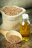 Linseed oil Royalty Free Stock Photos