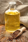 Linseed oil Royalty Free Stock Photo