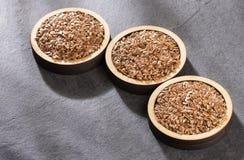 Linseed organic seeds - Linum usitatissimum. Text space. Linseed organic seeds - Linum usitatissimum stock image