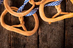 Linseed pretzel Royalty Free Stock Photos