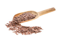 Linseed on a spoon Stock Photos