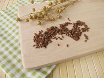 Linseeds and Flax Stock Photography