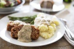 Linsen-Laib-Abendessen des strengen Vegetariers Stockbild
