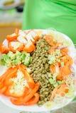 Linsen mit Gemüse Lizenzfreies Stockfoto