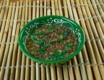 Linsen-und Spinats-Suppe Stockbilder