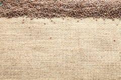 Linsenbohnen gesehen von oben stockfoto