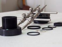 Linsenreparaturwerkzeuge Lizenzfreies Stockfoto