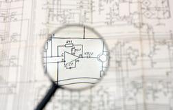 linsförstoringsapparat Arkivbilder