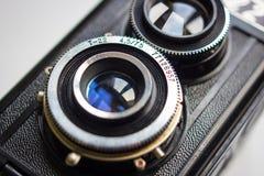 Linskamera för tappning två Royaltyfri Foto