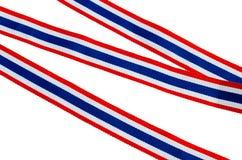 Lint-gestreepte vlag van Thailand, Symbool van Thailand Stock Afbeeldingen
