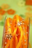 Lint met parels en bloemen Royalty-vrije Stock Afbeeldingen