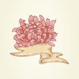 Lint met roze bloem Stock Foto