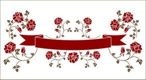 Lint met rozen stock illustratie