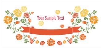Lint met rozen vector illustratie