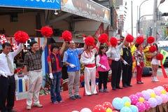 Lint Scherpe Ceremonie bij Markt het Openen royalty-vrije stock foto's