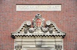 Lintel of Fogg Museum of Art, Harvard University Stock Photos