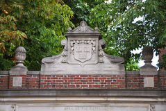 Lintel of Harvard University, Cambridge, USA Stock Photos