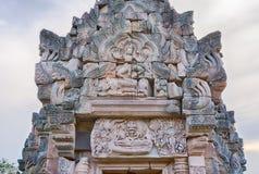 Lintel Przedstawia Vishnu Anantasayin Zdjęcie Royalty Free