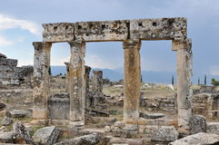 Lintels & Pillars, Hierapolis, Pamukkale, Turkey Royalty Free Stock Images