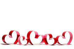 Linten als harten op wit worden gevormd dat, royalty-vrije stock afbeelding