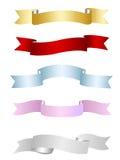 Linten, bannersinzameling Royalty-vrije Stock Afbeelding