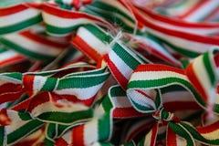 Linten in de nationale kleuren van Hongarije Royalty-vrije Stock Afbeelding
