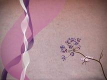 Linten en bloemillustratie vector illustratie