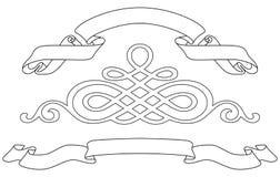 Linten en patroon royalty-vrije illustratie