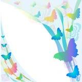 Linten en vlinders Stock Afbeelding