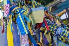 Linten met de symbolen van de Oekraïne Royalty-vrije Stock Afbeeldingen